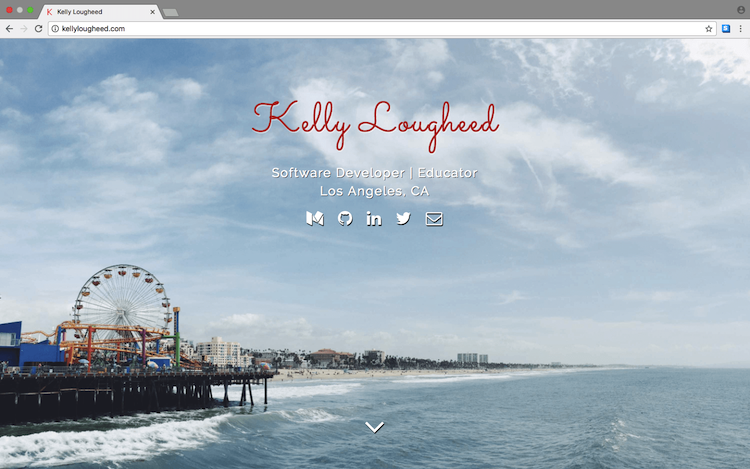 Portfolio website with Santa Monica layout